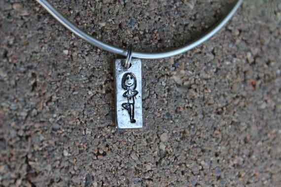 Yoga Mantra Bangle Bracelet - Gift for Yogi - Mantra Bracelet Charm - Interchangeable Charms - Yoga Lover - Gift for Yoga, Charm Only