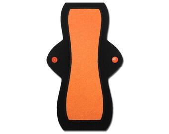 "Reusable Feminine Pad (10"" Heavy - Orange Jersey)"