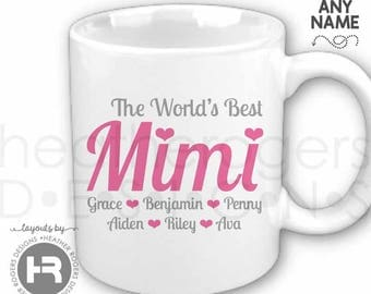 Mimi Coffee Mug World's Best Mimi Coffee Mug - Personalized Coffee Mug perfect for Mother's Day, Mimi Birthday Gift or Mimi Christmas Gift