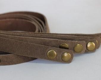 SALE 5 pcs Leather Bracelet Strap, Wrap Bracelet, Tan Suede Genuine Leather Strap Blank