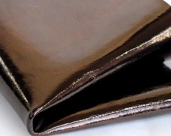 Metallic Brown  Leather, Dark Bronze Patent Leather, Genuine Leather