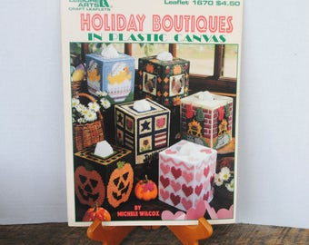 Leisure Arts Holiday Boutiques in Plastic Canvas
