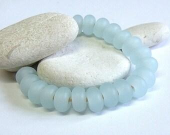 Soda Blue, Lampwork Spacer Beads, SRA, UK