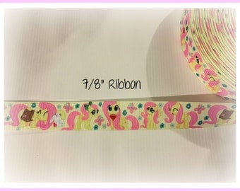 My Little Pony Fluttershy 7/8 inch Grosgrain ribbon