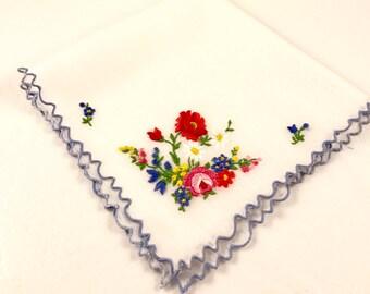 Something Blue Vintage Handkerchief, Wedding Hankie, Personalized Wedding Hankie, Something Blue, Something old