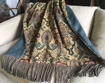 Moroccan Throw Blanket, Custom Quilt, Wall Hanging, European Tapestry, Tribal Throw, Sofa Throw, Designer Bedding Turkish, Arabian Nights