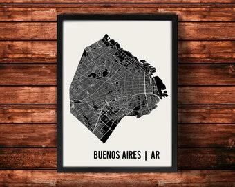 Buenos Aires Map Art Print | Buenos Aires Print | Buenos Aires Art Print | Buenos Aires Poster | Buenos Aires Gift | Wall Art