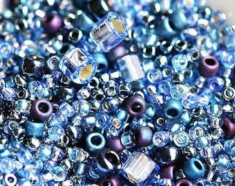 Blue Toho Seed beads MIX - Montana Blue - N 3204, rocailles, glass beads - 10g - S241
