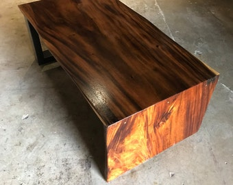 SALE! Live Edge Wood Waterfall Coffee Table