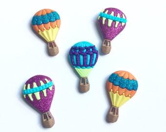 Hot Air Balloon Magnets, Hot Air Balloon Fridge Magnets, Hot Air Balloon Kitchen Magnets, Hot Air Balloon Office Magnets, Whimsical, Nursery