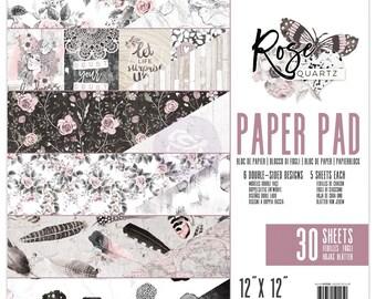 Prima Rose Quartz 12 x 12 Paper Pad Scrapbook New Release In Stock Ready To Ship