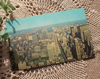 Vintage Postcard from Midtown Manhattan New York City, New York,Manhattan,vintage ephemera,postcard collection