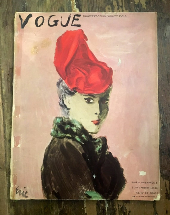 Vintage Vogue Magazine September 1936 Edition