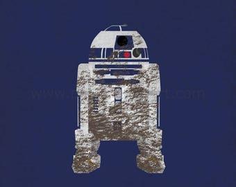 Star Wars The Empire Strikes Back - The Sidekick - R2-D2 Art Print - poster, rebel, droid, star wars, minimalist