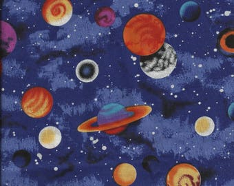 Outer Space/Planets Cotton Fat Quarter Fabric
