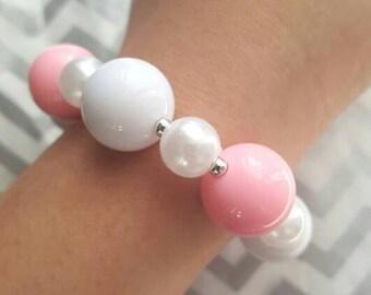 Pastel Pink Gumball Bracelet