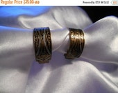 50% OFF SALE Made in Spain Damascene Half Hoop Clip Style Earrings