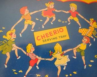 Vintage 1960's Cheerios Serving Tay