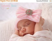 SALE baby girl newborn hospital hat, baby girl, newborn hospital hat, infanteenie beenie, infanteenie beanie