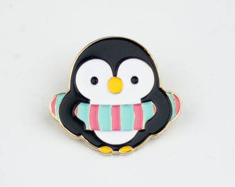 Patrick Penguin - Enamel Pin, lapel pin, bird, floatie, swimming, summer