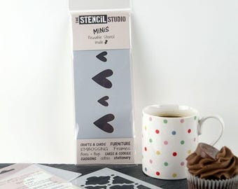 Vintage Hearts Border Stencil - Stencil MiNiS from The Stencil Studio. Handy little reusable stencils for home decor, crafts and more!