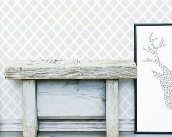 Diamonds Forever Stencil, repeat geometric Scandi style pattern for walls,reusable stencils for home decor & crafts from The Stencil Studio.