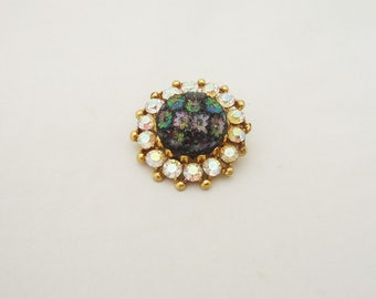 Vintage Sparkly Brooch, Vintage Sparkly Pin, Sparly rhinestone Brooch, Vintage Costume Jewellery