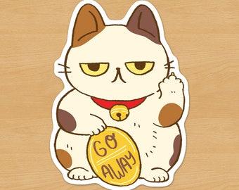 Unlucky Cat Sticker / Maneki-neko