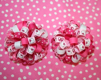 Hello Kitty loopy puff bow SET OF 2
