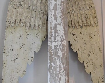 Columns, Angel Wings, 8'+ Tall Antique Columns, Natural Distressing, Indoor, Home Decor, Covered Porch,French Nordic, French, Paris Style