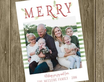 Photo Christmas Card - MERRY