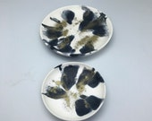 Black, white and gold Resin Plate/Dish/Trinket Set