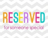Reserved listing for Laurie Kubot