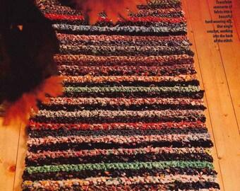 FABRIC Crochet RUG Pattern, Repurpose, Indoor, Outdoor, Carpet, Rug, Fabric Remnant, Crochet PDF Pattern, Crochet Instant Download