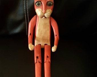 Vintage wooden cat