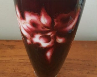 Oxblood red flower vase
