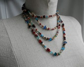 MULTI Colored BEADED Long Necklace