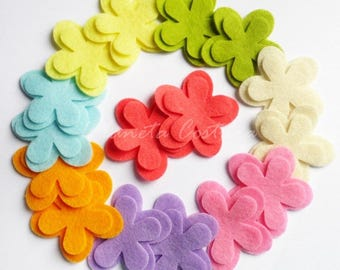 Felt flower Shapes, 32 pieces, Party Supply, DIY Wedding, Scrap supply