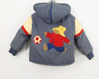 80s Childs Paddington Bear By Quiltex  Winter Jacket Coat Size 3 Classic 80s style