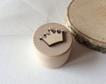 Tiny wooden box / tooth fairy box / wooden crown box / small treasure box / wooden container
