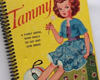 Vintage Little Golden Book TAMMY made into a spiral bound journal