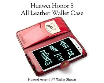Huawei Honor 8 Leather Wallet Case / Leather Phone Case / Honor 8 Case / Leather Honor 8 Wallet / personalized phone case /