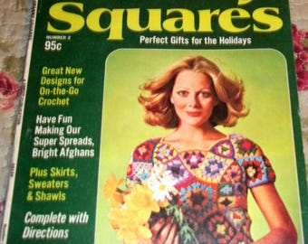 Vintage, Crochet Book, Crochet, Granny Squares, Woman's Day Book