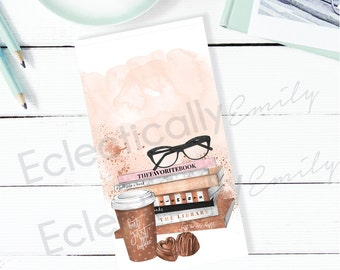 Reading Beauty Dashboard 2 | Personal Planner Dashboard | Personal Size Planner Accessories | Planner Dividers K001-Dash 2