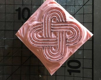 Solomon's Knot unmounted occult rubber stamp