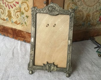 French vintage frame, Metal frame for picture 1914 1915 1 first War of world