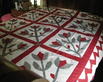 Antique Quilt. New England. 1870s