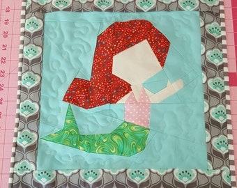 Mermaid Quilted Wall Hanging, Mermaid, Quilt, Home decor, Little Mermaid, Girl's Room, Nursery