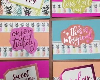 Beachy Handmade Cards