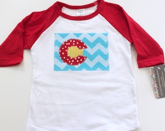 Colorado shirt Colorado Baby raglan baseball Denver